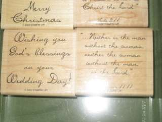 Stampin Up GOD BLESS II INSPIRATIONAL RUBBER STAMP SET