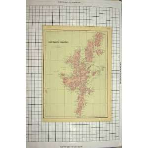 : ANTIQUE MAP SHETLAND ISLANDS MAGNUS BAY YELL FETLAR: Home & Kitchen