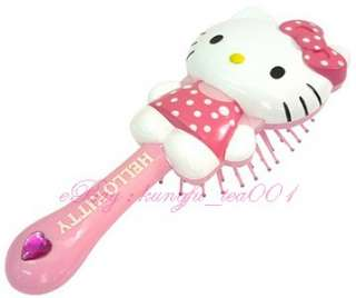 free sanrio hello kitty pink hair styling brush comb japan