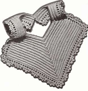 Vintage Filet CROCHET BABY BIB PATTERN Ducky Duck Chart