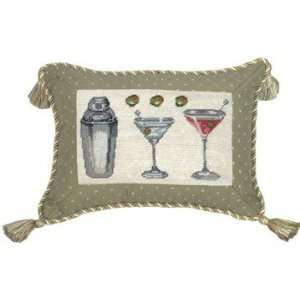 Creations C635.9x12 Inch Martini   Petit Point Pillow