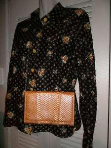 VTG 80s JAY HERBERT Yellow Snake Skin Handbag Clutch