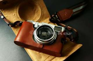real COW leather case bag cover for FUJI FUJIFILM X100 Camera 2 parts