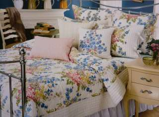 NIP NOBLE EXCELLENCE QUEEN QUILT BLOOMSBURY CREAM & PASTEL FLORAL