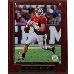 Alabama Crimson Tide #12 Greg McElroy 10.5 x 13 Player