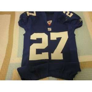 2008 New York Giants NFL Football Game Used Jersey #27