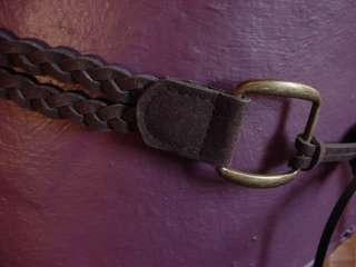 Bohemian Fashion / Renaissance Garb Braided Dark Faux Suede Tie Belt