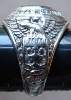 WWII US Army Air Forces Insignia Sterling Ring Size 9.5 USAF 1943
