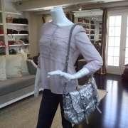 PRADA Nappa Dressy GAUFRE Messenger Bag Purse Silver