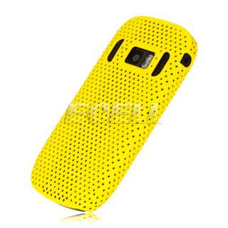 NEW YELLOW PERFORATED MESH HARD BACK CASE COVER FOR NOKIA 701