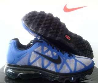 New Nike iD Men AIR MAX+ 2011 Blue/Grey Black sz 7