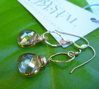 14K Gold Filled Swarovski Crystals Dainty Earrings