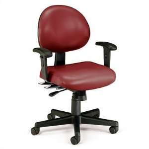 24 Hour Vinyl Task Chair Color Black