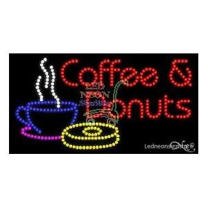 Coffee and Donuts LED Sign Office Products