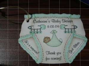 Baby Shower Party Favor Gift Tags/Polka Dots Sling Tags, Bottle