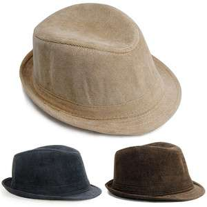 New high black blown yellow quality mens fedora hat fashion
