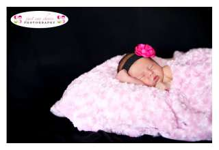 Newborn, Baby or Infant Toddler Girl 2 Inch Flower Headband Bow Band