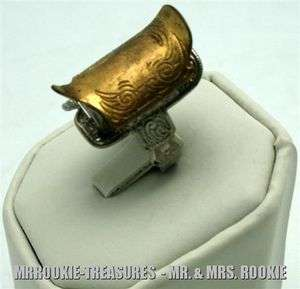 1950 Lone Ranger Saddle Two tone Gold & Silver Ring