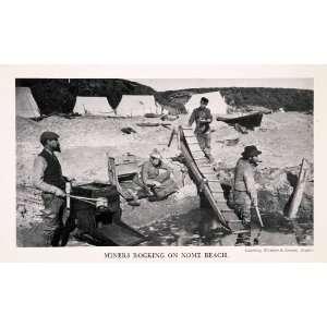 1943 Halftone Print Miners Nome Alaska Beach Gold Rush