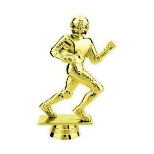 Gold 4.75 Football Trophy RUNNER Figure Trophy