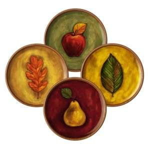 Grasslands Road Ceramic Autumn Leaf & Fruit Design Accent Dinner