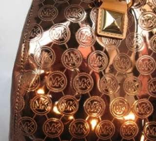 MICHAEL Michael Kors Grayson Lg Monogram Mirror Metallic Cocoa Satchel