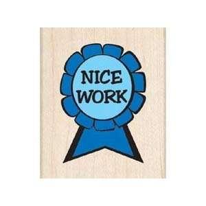 Nice Work Wood Mouned Rubber Samp Ars, Crafs & Sewing