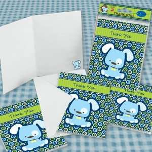 Boy Puppy Dog   Set of 8 Baby Shower Thank You Cards Toys & Games