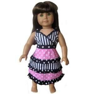 New DOT STRIPE Dress fits AMERICAN GIRL DOLL clothes Toys