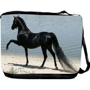 Rikki KnightTM Black Stallion at Beach Messenger Bag   Book