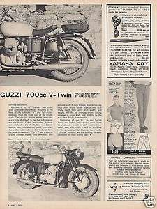 1965 Moto Guzzi 700 Motorcycle report 10/18/11