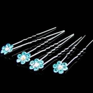 ADDL Item  4 bridal flower rhinestone crystal Hair Pin