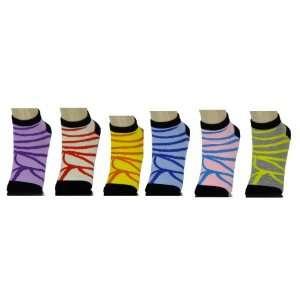 Grope 3 Pack Low Cut Sock   Animal Stripe Sock (Size 9