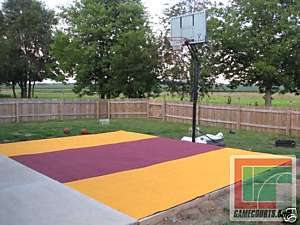 20 x 20 Basketball Multi Court Tile Kit, 13 COLORS