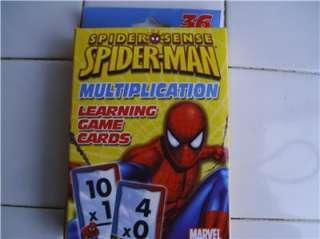 Marvel Spider Man Multiplication Learning Game Cards