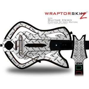 Warriors Of Rock Guitar Hero Skin   Diamond Plate Metal (GUITAR
