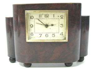 ANTIQUE HANSA WOODEN TABLE DESK CLOCK MONEY BOX x