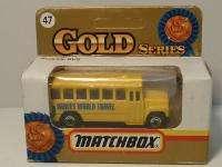 MATCHBOX MB 47 SCHOOL BUS   HARVEY WORLD TRAVEL