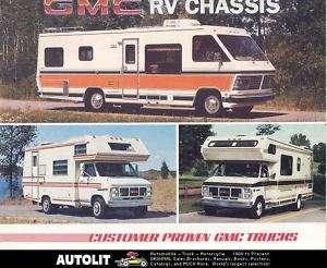 1985 GMC Motorhome RV Chassis Brochure