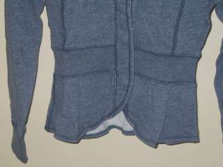 & Fitch Womens Kali Hoodie Jacket XS Heather Navy Blue   NWT
