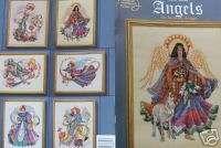 Cross Stitch Pattern Book STUNNING HEAVENLY ANGELS