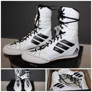 more photos on feet shots of uk store adidas boxing boots tygun ii black white sizes 7uk 14uk