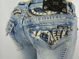 Miss Me Jeans Womens New Rhinestones BOOT CUT Style JP6063B2