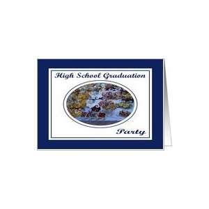 High School Graduation Party Food Swirls Card Toys