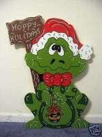 Hoppy Holidays Frog Christmas Yard Art Decoration