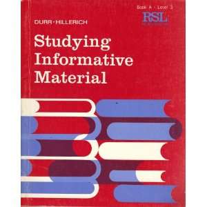 Material, Book A, Level 3 (Reading Skills Lab): Durr, Hillerich: Books