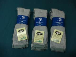 NWT Womens Polar Edge Merino Wool Ski Sock 6 pair Grey