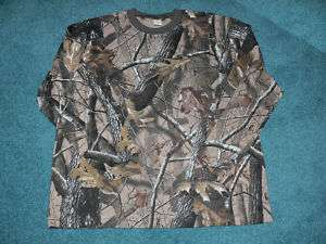 mens camo,realtree hardwood, long sleeve shirt, new