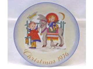 Schmid Hummel 1976 Christmas Plate SACRED JOURNEY Annual Limited
