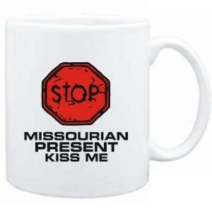 Mug White  STOP  Missourian START KISSING  Usa States